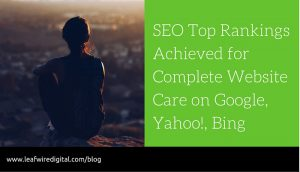Showcasing a SEO success
