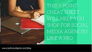 Social Media Agency Shopping cheatsheet
