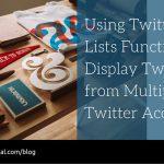 Display Multiple Twitter Streams in One