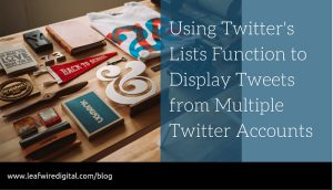 Display Multiple Twitter Streams in One