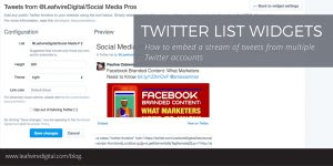 Twitter Lists widget