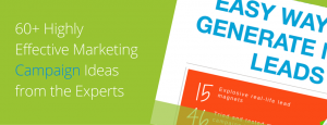 60+ highly effective marketing campaign ideas