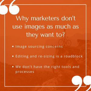 Why marketers don't use images as much as they want to