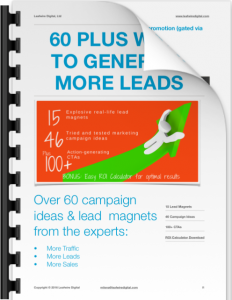 60 ways to generate more leads - ebook