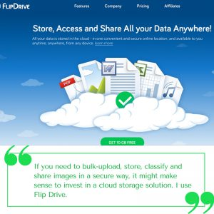 Image sharing on the cloud - Flip Drive