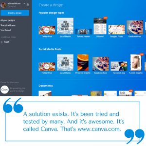 Visual content automation and management via Canva