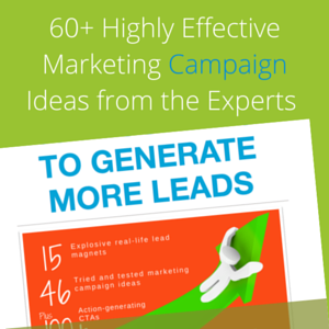 60+ ideas for more leads