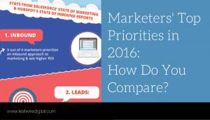 Marketers' Top Priorities in 2016