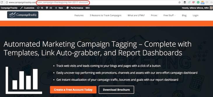 UTM_campaign UTM tag example