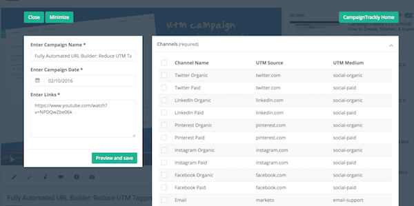 Fully automated all-in-one UTM tag generator, tracking URL builder, and link shortener - campaigntrackly.com
