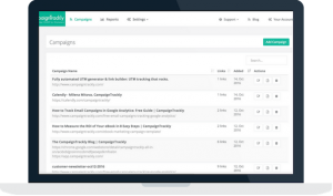 CampaignTrackly's top features include free custom and standard UTM tag automation, CSV exports, and campaign dashboards