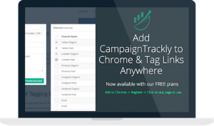 Take our Chrome Extension everywhere with you to tag and build URLs