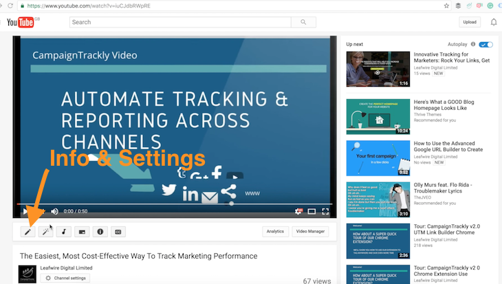 Tracking Videos in Google Analytics - step 1, let's set up the call to action and tracking link