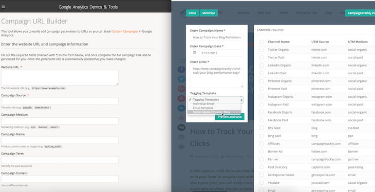 Campaigntrackly chrome extension automated link tagging