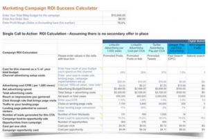 Marketing ROI Calculator Workbook
