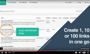 Create and shorten one, ten or a hundred links in seconds