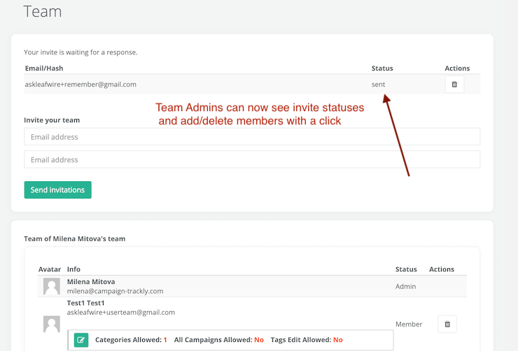 New Team User Management Feature
